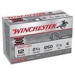 "Winchester Super-X Turkey Load 12 Gauge 2 3/4"" 1 1/2oz. 6 Shot"