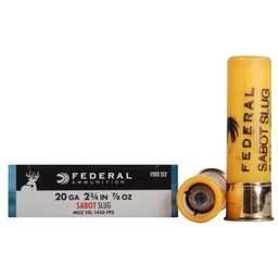 "Federal Federal Power-Shok 20 Gauge 2 3/4"" 7/8oz. Sabot Slug"