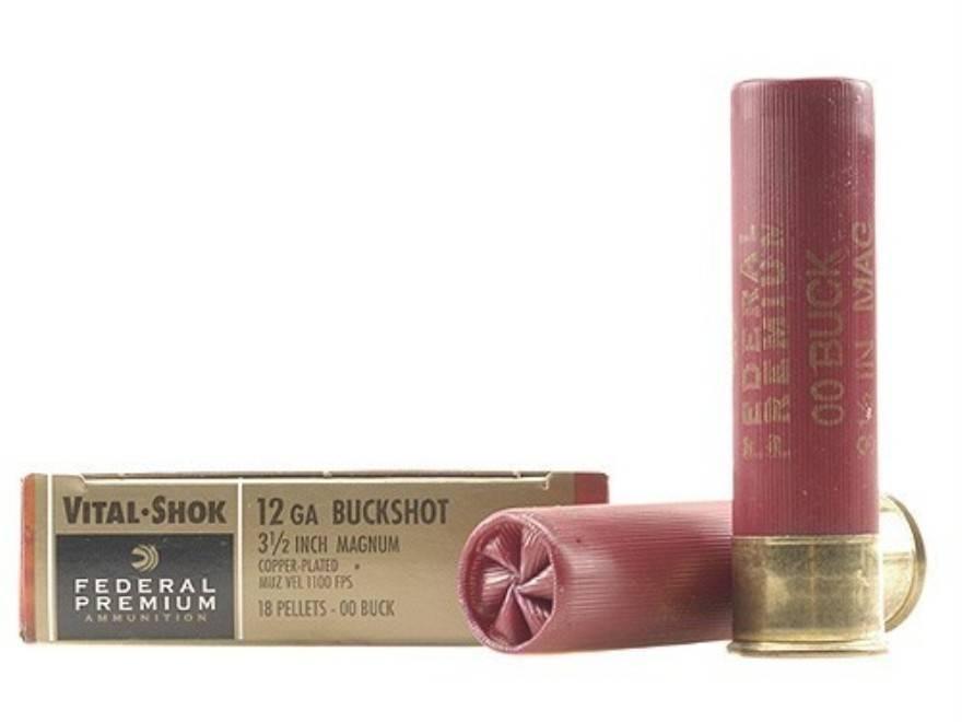 "Federal Premium Federal Premium 12 Gauge 3 1/2"" Magnum 18 Pellets Shot #00Buck"