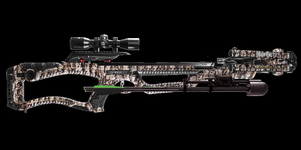 Barnett Whitetail Pro Crossbow Package 400 FPS 2-20 Scope Trubark Camo