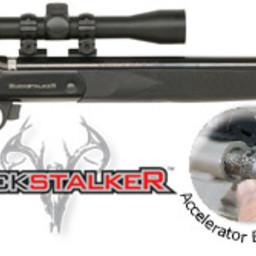 "Traditions Buckstalker Accelerator 50 Cal, 24"" Barrel, Blued/ Black Synthetic w/ Scope"