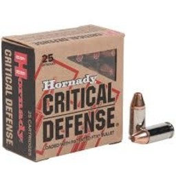 Hornady Hornady Critical Defense 9mm 115 Grain FTX (25 Rounds)