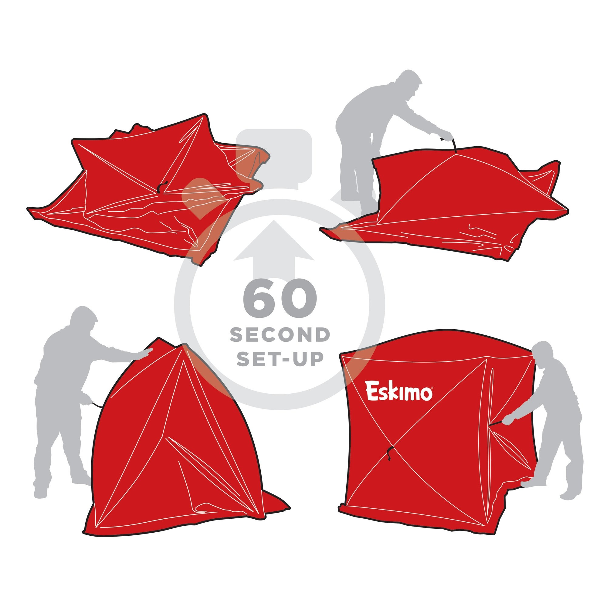 "Eskimo Eskimo Quickfish 2-Person Pop-Up Ice Hut 60""x60"""