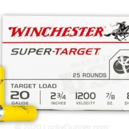 "Winchester Winchester Super Target 20 Gauge 2 3/4"" #8 (250 Rounds)"