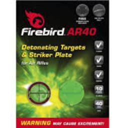 Firebird AR40 Detonating Targets & Stricker Plate For Air Rifles (10-Pack)