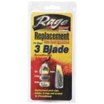 Rage Broadheads 3 Blade Replacement Blade Tips O-Ring Screws
