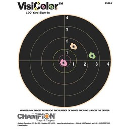 Champion VisiColor 100 Yard Sight-In Targets (10-Pack)