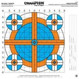 Champion Re-Stick 100 Yard Rifle Sight-In Targets (25 Sheets)