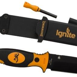 Browning Browning Ignite Knife w/ Flint Fire Starter Orange