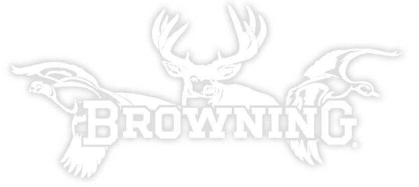"""Browning Browning All Seasons 12"""" White Decal"""