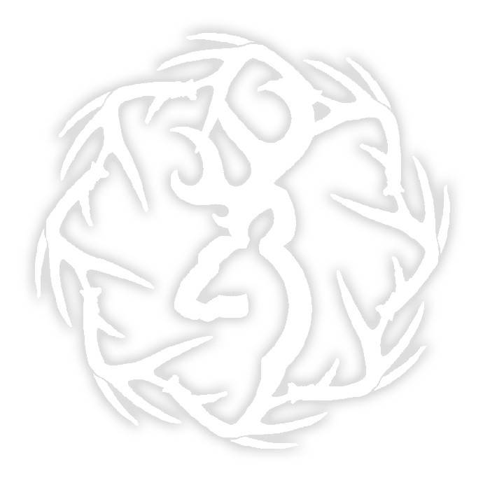 """Browning Browning Sheds 6"""" White Decal"""