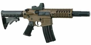 Bushmaster MPW BB Air Rifle w/ Red Dot 430 FPS Full Auto Co2 Powered Black/FDE