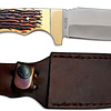Uncle Henry Fixed Blade Gut Hook Knife w/ Leather Sheath