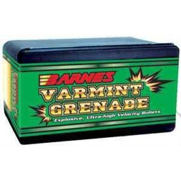 Barnes Varmint Grenade Bullets 6mm 62 Grain HP FB