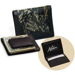 Weber's Camo Front Pocket Wallet w/Magnetic Money Clip