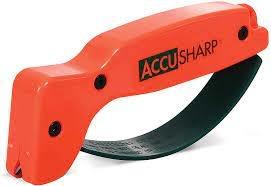 Accu Sharp Knife and Tool Sharpener (Orange)