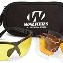 Walkers Walker's Impact Resistant Interchangeable Sport Glasses Kit Smoke Gray/Amber/Yellow/Clear