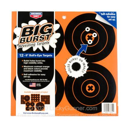 "Birchwood Casey Birchwood Casey Big Burst Revealing Adhesive Targets 12-6"" Bulls Eye Targets"