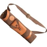 Bear Archery Traditional Back Quiver Brown Leather