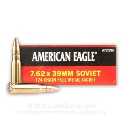 American Eagle American Eagle Rifle 7.62x39 Soviet Full Metal Jacket 124 Grain
