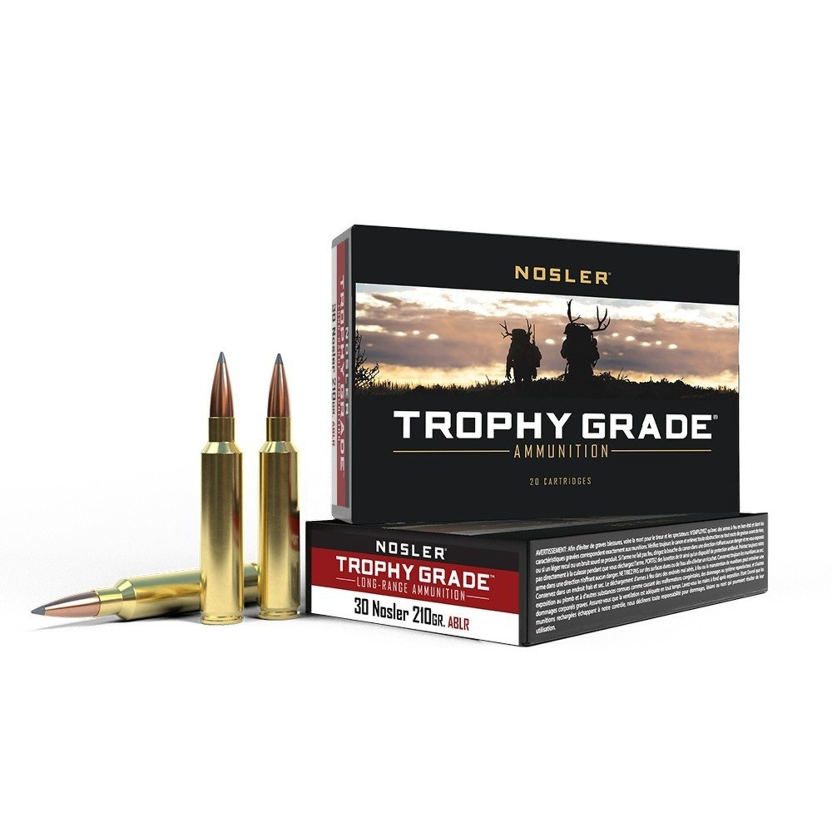 Nosler Trophy Grade Ammunition (20 Rounds)