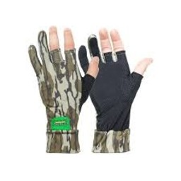 Primos Hunting Primos Stretch Fingerless Sure Grip Gloves Mossy Oak Bottomland