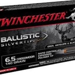 Winchester Winchester 6.5 Creedmoor 140 Grain Ballistic Silvertip (20 Rounds)