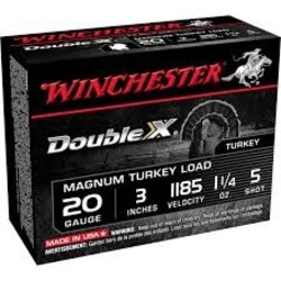 "Winchester Winchester Double X 20 Gauge 3"" 11/4oz #5 Shot (10 Rounds)"