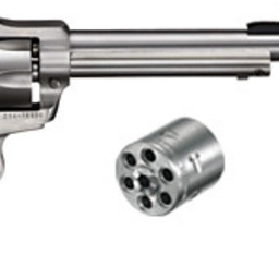 "Ruger Single Six Convertible 22LR/22WMR 5.5"" Barrel Hardwood Grip Standard Satin Stainless Steel"