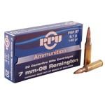 PPU Centerfire Ammunition 7mm-08 Rem. 140 Grain PSP BT