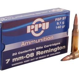 PPU Prvi Partizan (PPU) Centerfire Ammunition 7mm-08 Rem. 140 Grain PSP BT