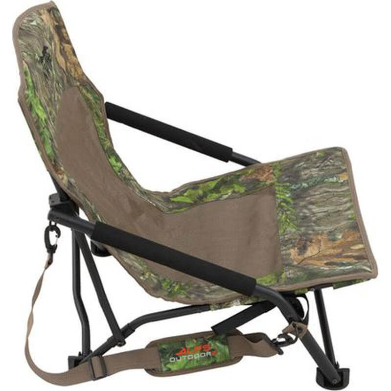 Alps Outdoorz Alps Outdoorz Vanish Turkey Chair Low Profile Compact Folding Chair Mossy Oak Obsession