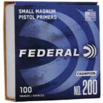 Federal Small Magnum Pistol Primers No. 200 (100 Count)
