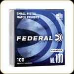 Federal Small Pistol Primer No.100 (100 Count)