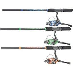"Worm Gear Worm Gear 5'6"" Medium 2 Piece Fishing Pole Combo (Assorted Colours)"