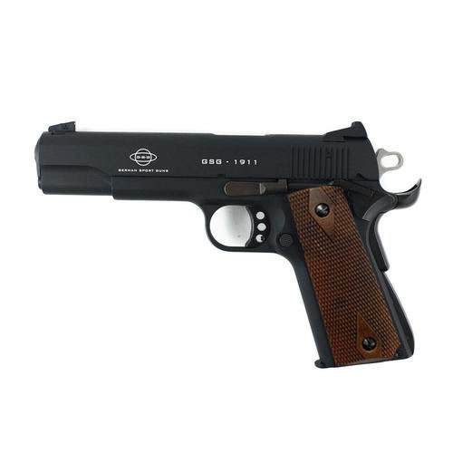 GSG 1911-22 .22LR Standard Black Finish Wood Grips