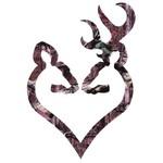 "Browning Buck-Heart Decal 6"" Camo"