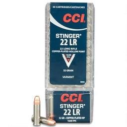 CCI CCI Stinger .22LR CPHP 32 Grain 1640 FPS (50 Rounds)