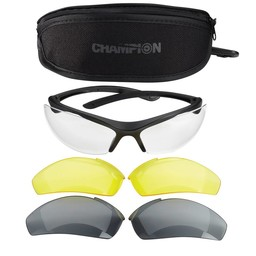 Champion Ballistic Shooting Glasses w/ Case