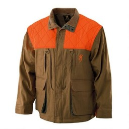Browning Browning Canvas Upland Gear Field Tan w/ Blaze Trim Jacket
