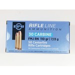 PPU Rifle Line 30 Carbine FMJ RN 110 Grain (50 Rounds)