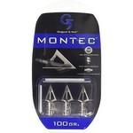 G5 Montec 100 Grain Broadhead 3 Blade (3 Pack)