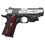 Browning 1911- 380 Black Label Medallion Laser Rosewood Grips