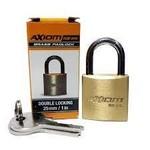 "Axiom Security BX25 Keyed Brass Padlock Double Locking 25 mm/1"""