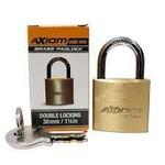 "Axiom Security BX30 Keyed Brass Padlock Double Locking 30mm/1 1/4"""