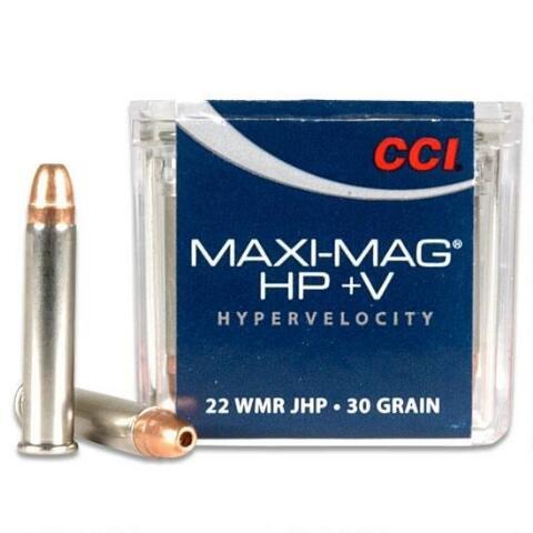CCI CCI Maxi-Mag HP+V .22 WMR 30 Grain JHP 2200 FPS (50-Rounds)