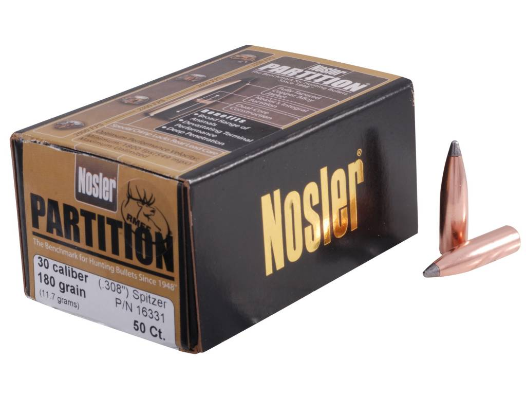 Nosler Partition Bullets  30 Cal  308