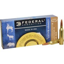 Federal Federal Power-Shok Copper Bullet .243 Win. 85 Grain LFHP (20-Rounds)