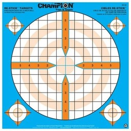 "Champion Re-Stick Targets Precision Sight-In 12"" Bull"