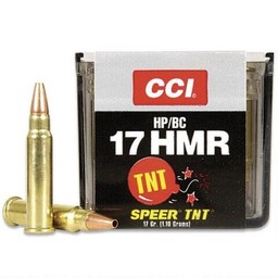 CCI CCI TNT Varmint .17 HMR 17 Grain Jacketed Hollow Point (50 Rounds)